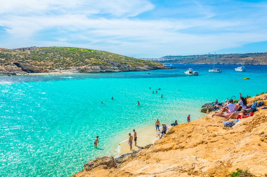 Blue lagoon at Comino island - Malta