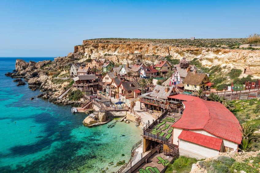 Popeye Village in Mellieha on Malta island, Europe.