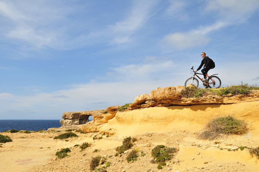 Travel by Bicycle in Gozo Malta